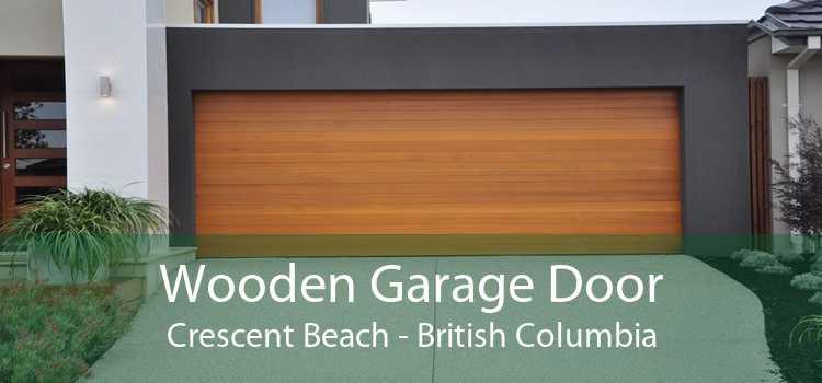 Wooden Garage Door Crescent Beach - British Columbia